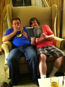 John and I in the chair